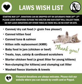 LAWS Supplies Wish List